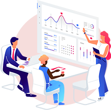 marketing image with graphs