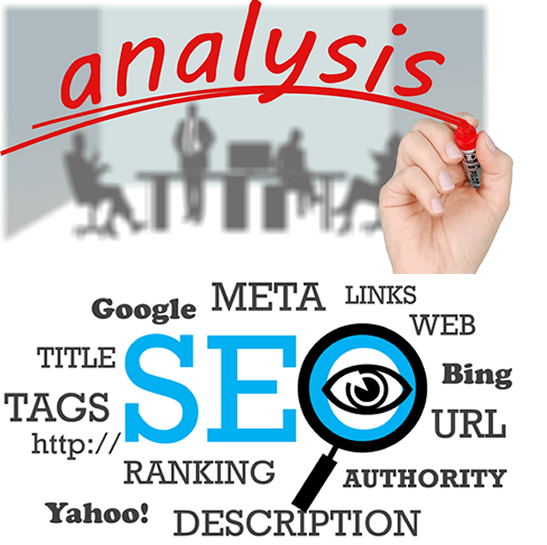 Image of analysis and seo